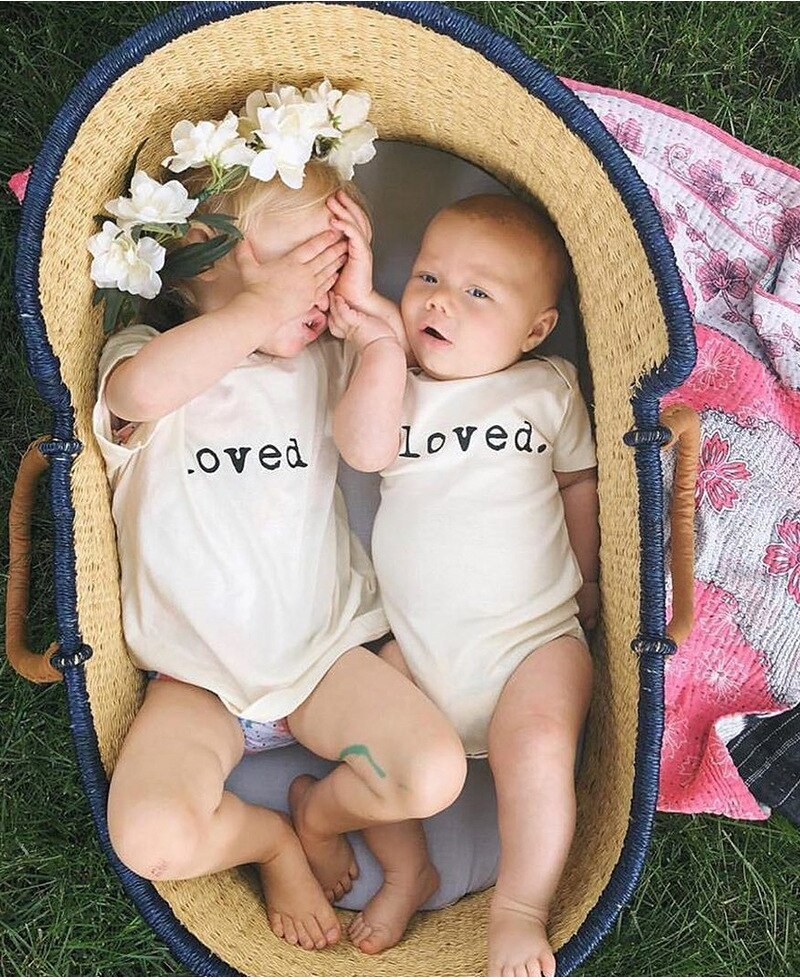 Summer Baby Girl Bodysuits 2020 Kid Super Cute Cotton Alphabet Fat-wrapped Clothes Boy Girl Twin Outfits