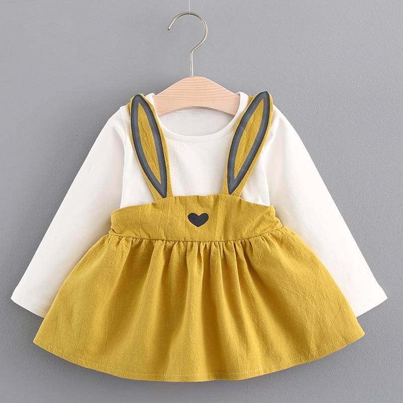 Menoea 2020 New Autumn Style Newborn Baby Girl Clothing Set Infant Rabbit Ears Suit Babies Girl Clothes