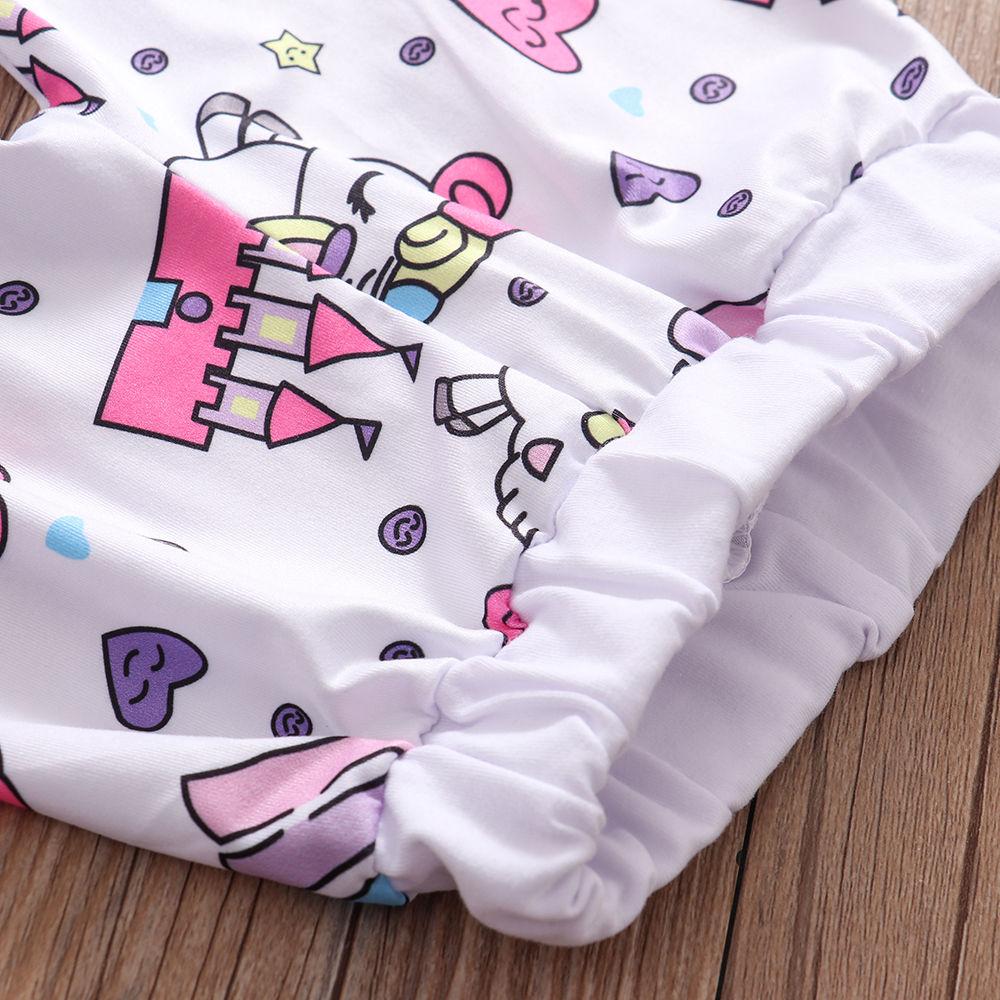 Newborn Infant Fashion Baby Girl Clothes Set 2020 Spring Unicorn Unicorn Tops Bodysuit+Pants+Hat 3PCS Baby Girl Outfit Sets