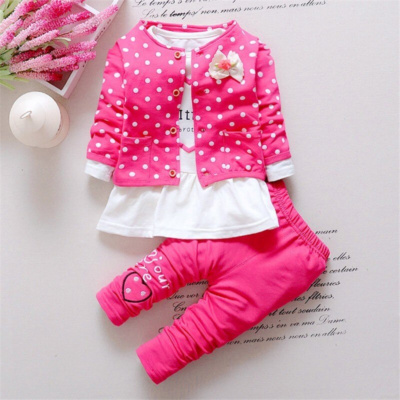 Infant Formal uniform suit 2020 Baby girls Wedding Clothing Sets Newborn children Bow tie jacket + pants toddler clothes