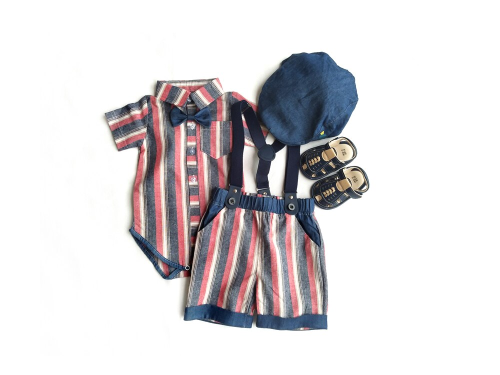 Toddler Boy girl Clothes Sets Children Clothing Fashion red Stripes 5pcs clothing set baby boys Outfits Soft Suit 2020 new