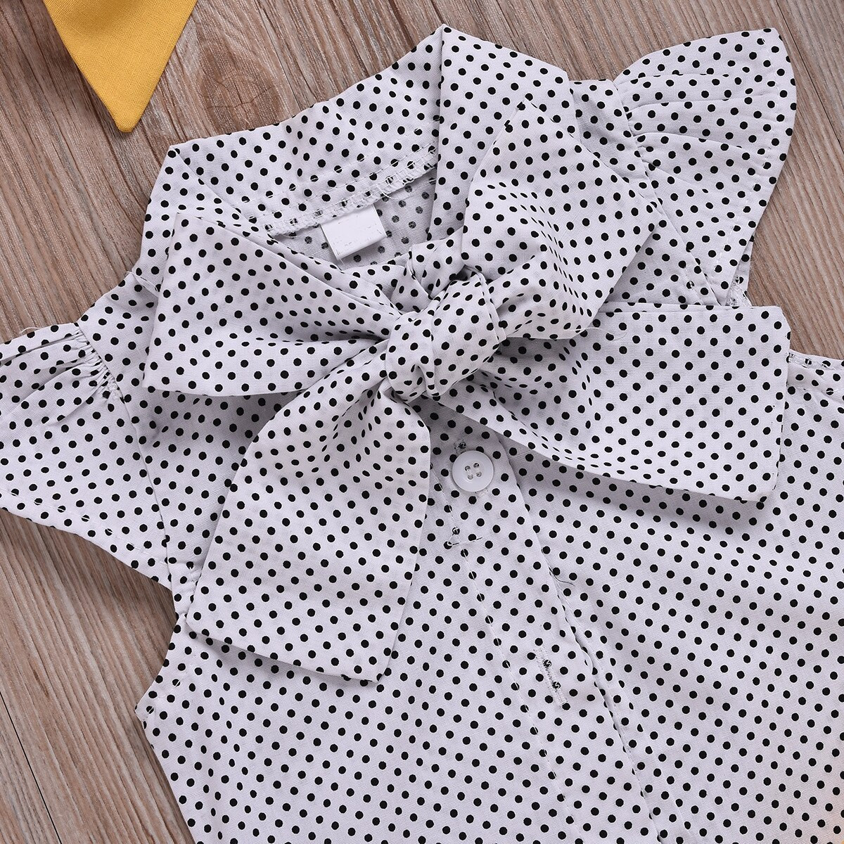 Sodawn Kid Clothes Baby Girl Clothes 2020 Dot Flying Sleeve Top+Strap Dress+Headband 3-Piece Summer Clothes For Kids Girl