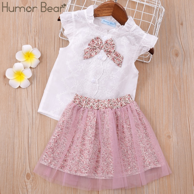 Humor Bear Baby clothes Girl Clothes 2020 Brand Girls Clothing Sets Kids Clothes Children Clothing Toddler Girl Tops+ Pant 2-6Y