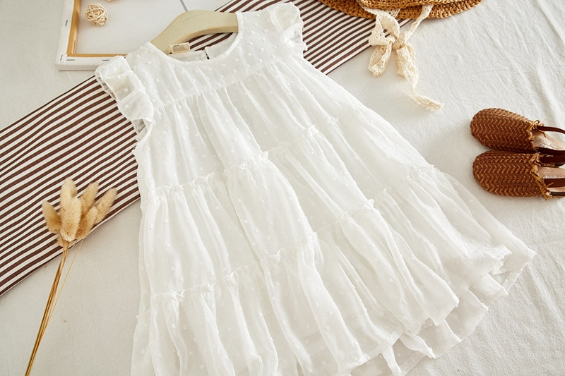Sodawn 2020 Summer Toddler Kids Baby Girl Dress Flying Sleeve Princess Dress Party Birthday Kids Clothing For Girls Clothes