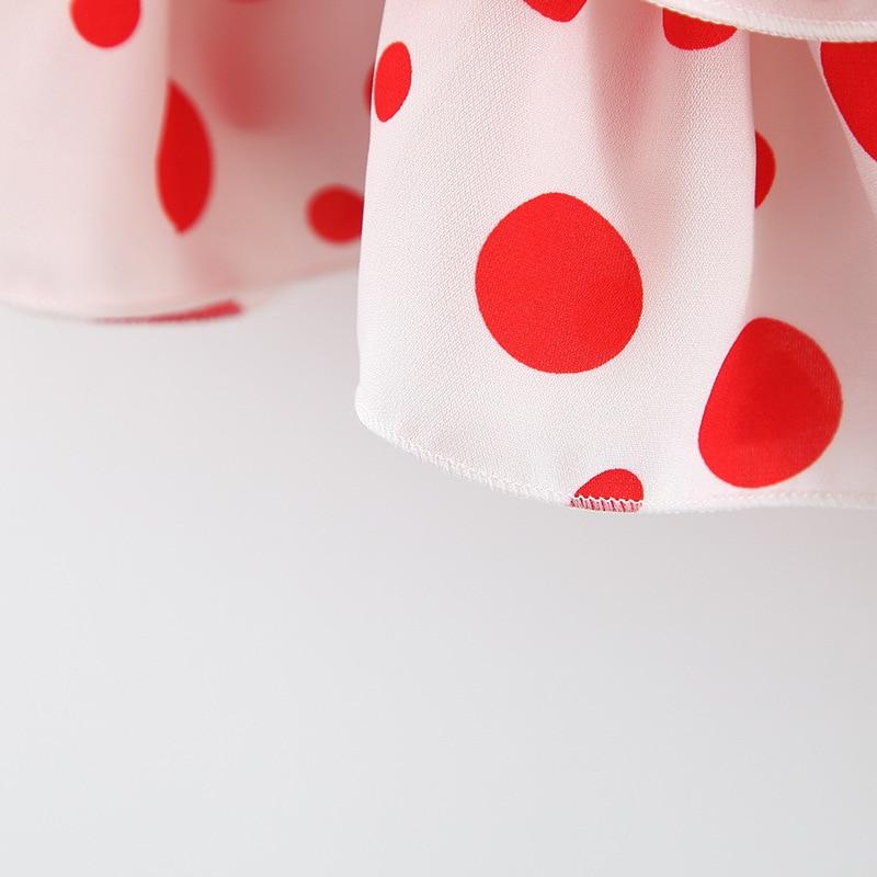 Humor Bear 2020 Baby Summer Clothing 1-4T Infant Kid Clothes Polka Dot Fungus Top +Shorts 2Pcs Set Toddler Girl Outfit