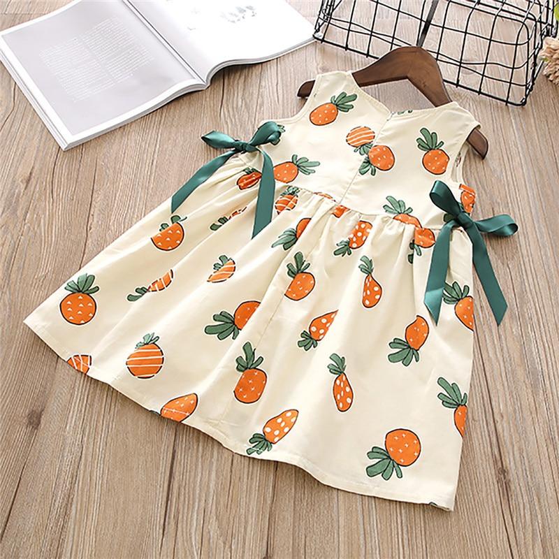 Humor Bear 2020 Summer Baby Girls Kids Dresses Sleeveless Lace Dress Party Princess Dress  Girls Clothes