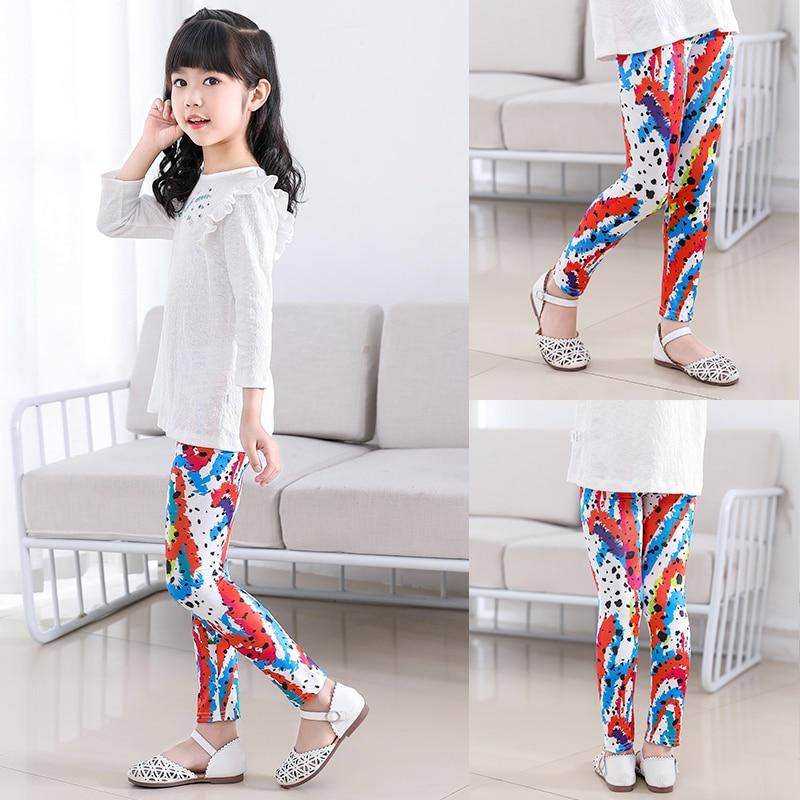 VEENIBEAR 2020 Style Print Girl Leggings Skinny Cool Summer Girl Pants Children Kids Pants Baby Girl Clothes Trousers Age 4-11Y