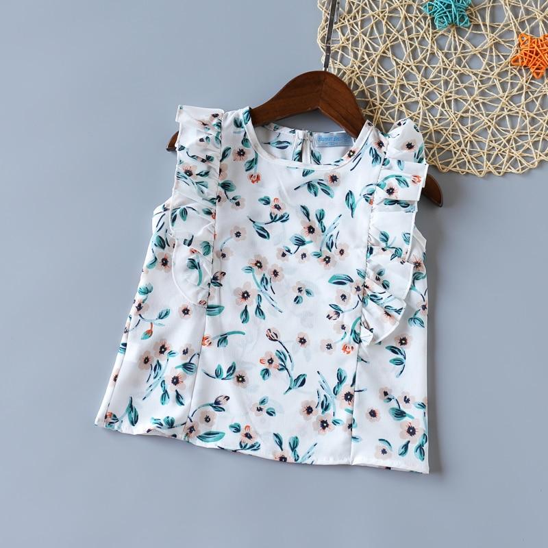 Humor Bear Girls Clothing Set 2020 Summer New Cute Sleeveless T-shirt+Striped Fruit Skirt Kids Suit Toddler Baby Girl Clothes