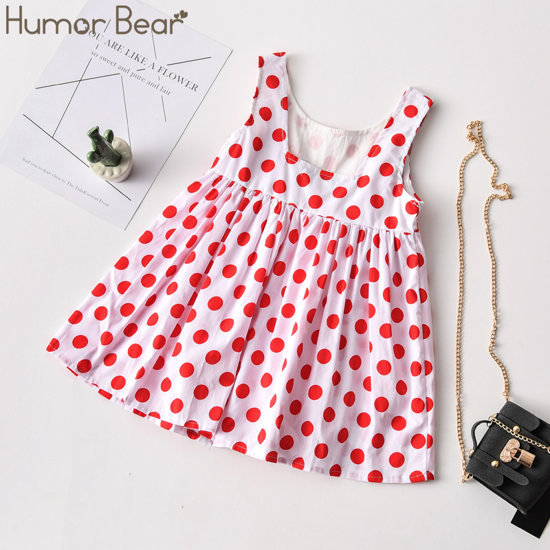 Humor Bear Summer 2020 New Fashion Baby Kid Girl Infant Sleeveless Embroidery Ruffles Flower Princess Dress Clothes Wholesale