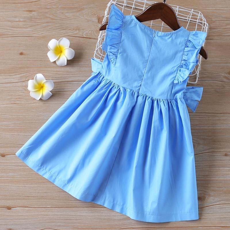 Sodawn 2020 Summer Baby Girls Dress Children Clothing Ruffle Sleeveless Princess Dress Bow Sweet Kids Girl Clothes