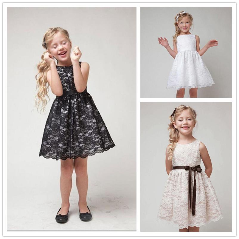 2020 SUMMER NEW Quality Children Clothes Teenager Kids Dress For Age 2-12 Girls Beautiful Lace Dress White Baby Girls Dress