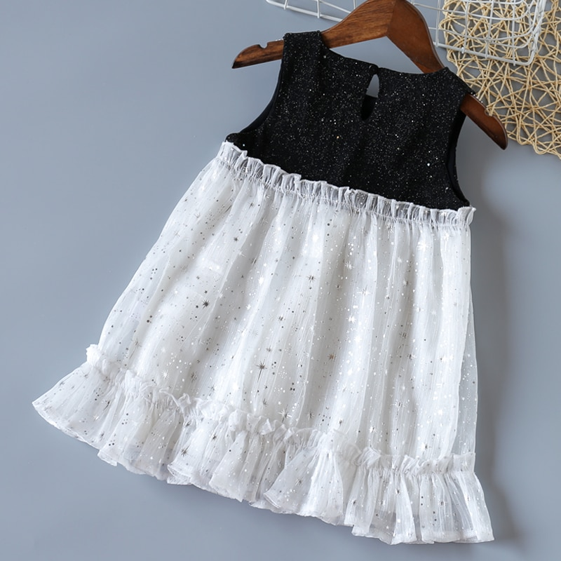 Humor Bear Girls Dress Summer New 2020 Korean Clothes Fashion Princess Cute Lace Short Sleeve Plaid Dress Baby Girls Clothing