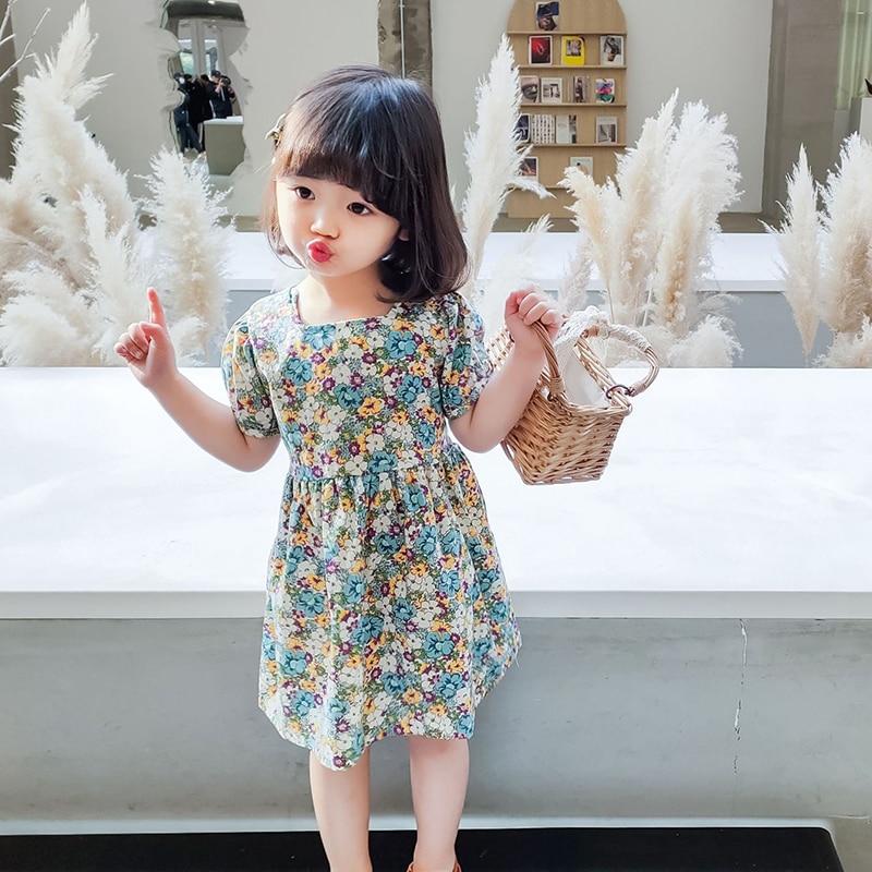 Humor Bear 2020 Children's New Girls' Dress Flower  Spring & Summer Girls Dresses For Party And Wedding Baby Girl Clothes