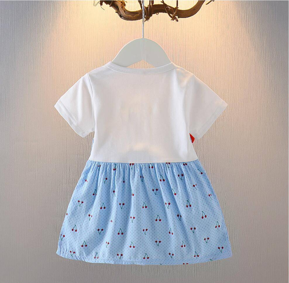 Baby Girls Dress 2020 New Summer Casual cotton cute cherry Strap dresses Infants newborn Clothes for Baby Dress 0-2 years