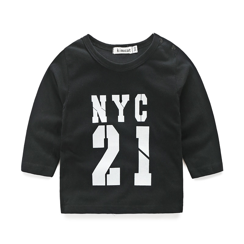 Baby boy clothes t shirt with printed pant for baby boys NYC printed baby clothes fashion vestido newborn boys clothes