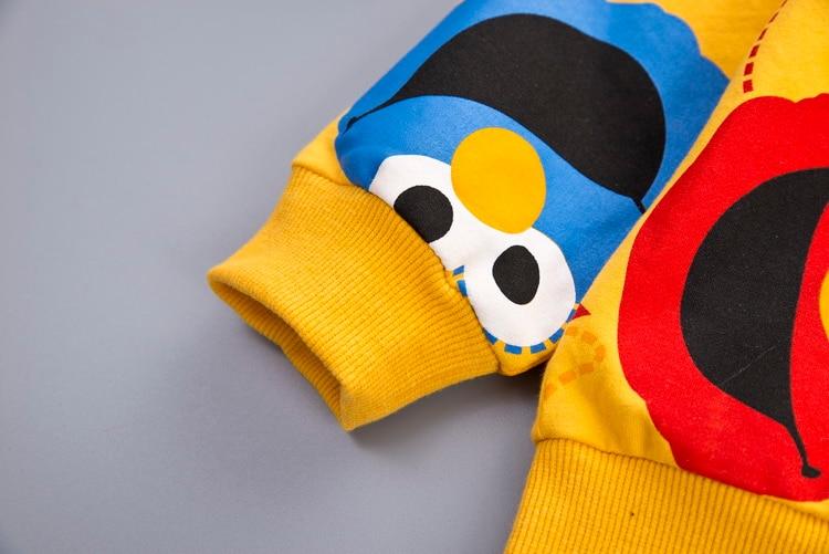 Boys Clothes Fashion Cartoon Boy Suit Set Casual Hot Sale Kids Costume Boy Clothing Set T-shit + Black Pants Children