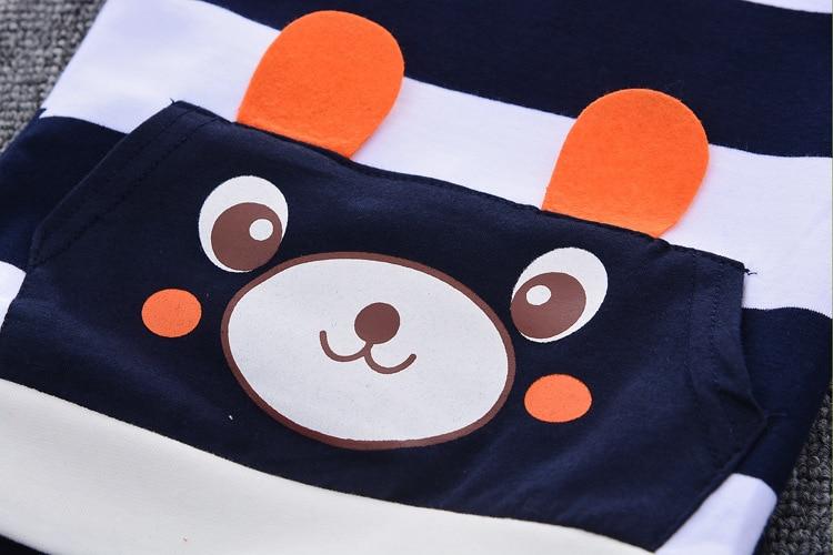 2020 New Children Cute T-shirt + Pants Baby Boys Summer Short Sleeved Clothes Children 0-1-2-3-4y Cartoon Suit Kids Sweatshirt
