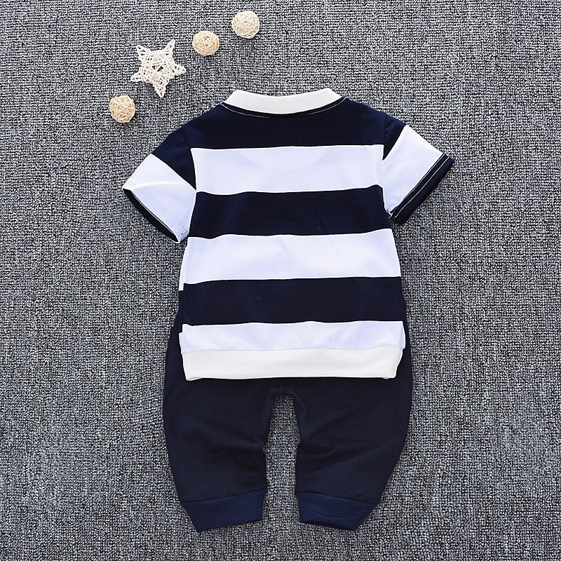 2020 New Children Cute T-shirt + Pants Baby Boys Summer Short Sleeved Clothes Children 0-1-2-3-4y Cartoon Suit Kids Sweatshirt
