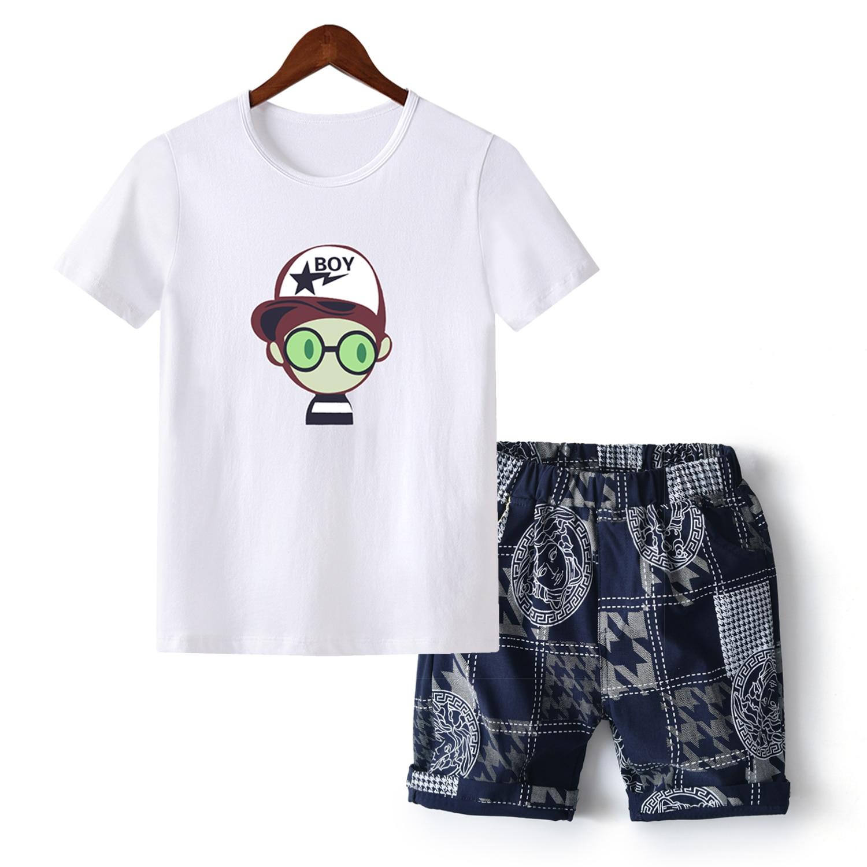 Teenage Children Boys Clothing Set Summer 2019 Cartoon T Shirt Hawaiian Shorts Teens Kids Boys Clothes For 6 8 10 12 13 14 Year