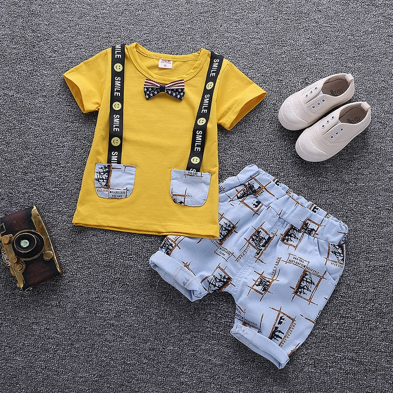 Baby Boy Clothes Summer Children Clothing Cartoon New Kids Cotton Cute  Sets Baby Boy Outfit Costumes Baby Clothing Set