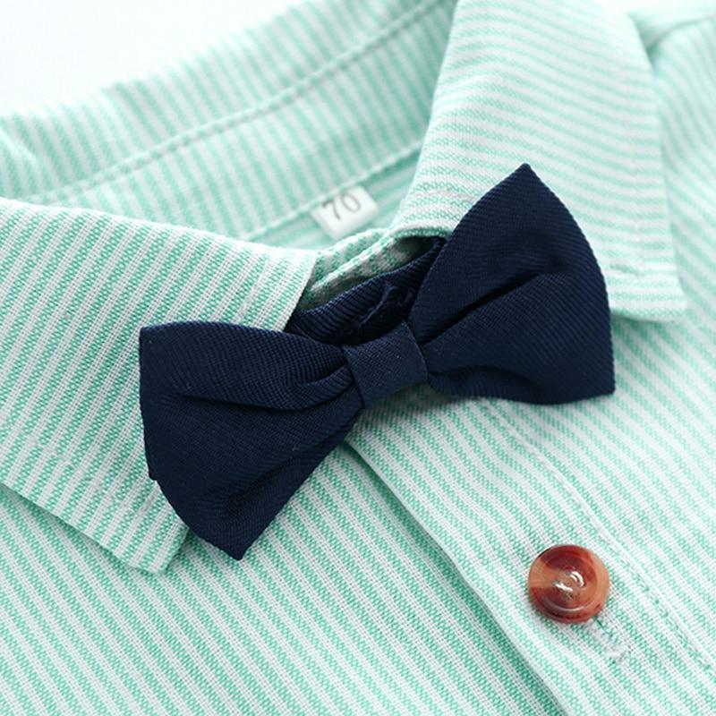 Tem Doger Baby Clothing Sets 2018 Autumn Infant Boy Clothes Newborn Gentleman Boy Striped Tie Rompers+Shorts 2PCS Outfits Sets