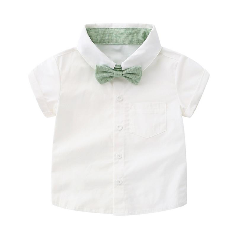 Tem Doger Baby Boy Clothing Set 2018 New Summer Infant Boys Clothes Tie Shirts+Overalls 2PCS Outfit Sets Bebes Gentlemen Suit