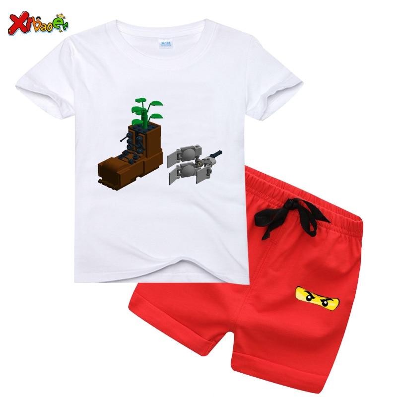 Boys T-shirts Set 2020 Summer Kids Ninjago T Shirts Cotton Top Tees Boys Girls tshirt Set Boys Clothes Summer Kids T shirt Set