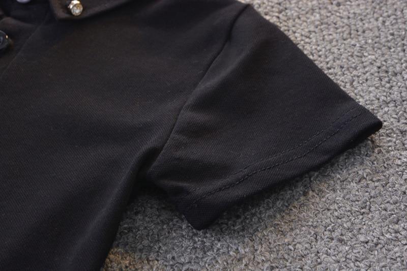 Toddler boy Clothes Set Summer 2020 2 3 Years Fashion Black Short Sleeve T shirt+ White Shorts boys Outfits Kids Clothing