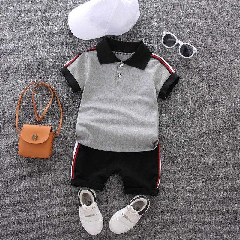 grey top shorts