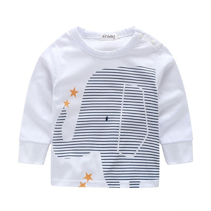baby boy clothes and girl clothes Elephant printed t-shirt+ striped pants baby boy clothing set newborns clothes