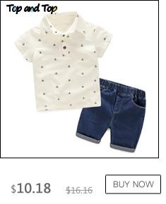 Top and Top boys clothing sets summer gentleman suits short sleeve shirt + shorts 2pcs kids clothes children clothing set