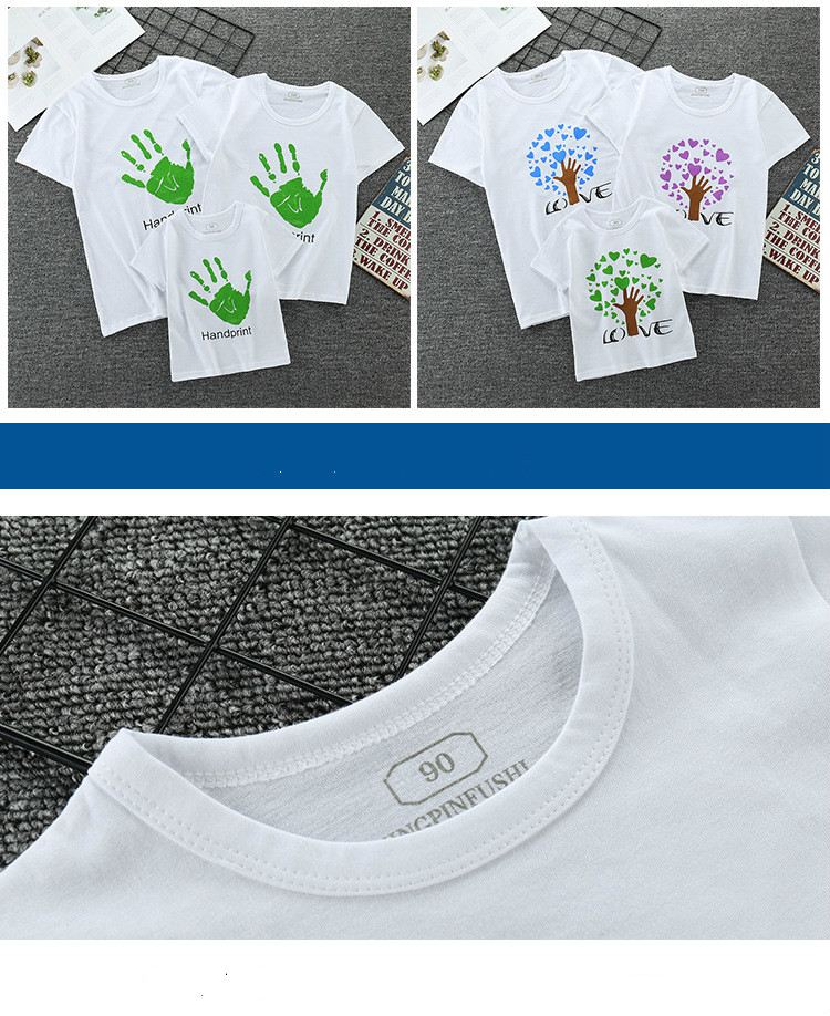 Dad and Me T-shirt Summer Mother and Daughter Clothes Boys Girls  Cotton Top Family Matching Clothes Family Matching Clothes