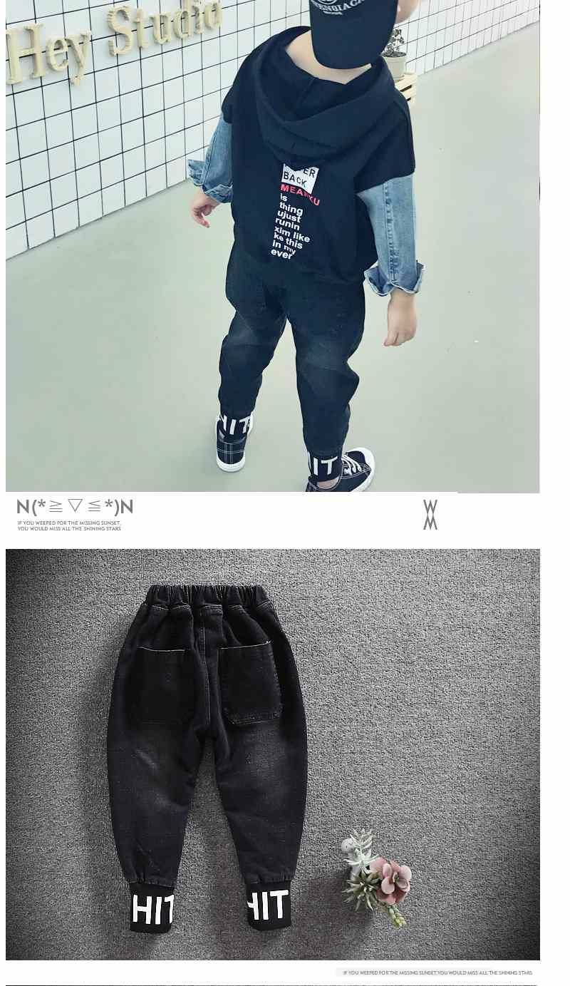 New Boys Jeans Pants Baby Casual Trousers Children Denim Clothing Cotton Boys Clothes Baby Long Pants Spring Autumn