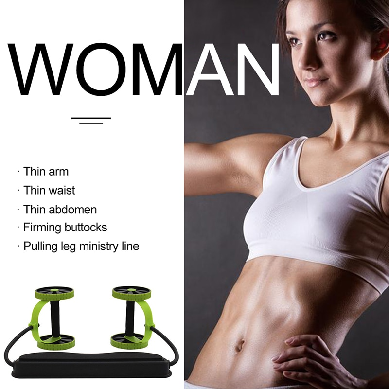 Muscle Exercise Equipment Power Roll Abdominal and Full Body Workout Double Wheel Arm Waist Leg Trainer Home Gym Fitness