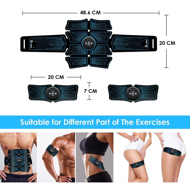 Abdominal Muscle Stimulator EMS Abs Electrostimulation Home Gym Trainer Muscles Toner Exercise Fitness Equipment USB Charged 7
