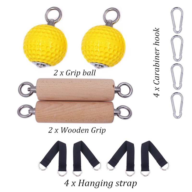 Hand Grips Pull-up Ball Cannonball Grips Home Fitness and Exercise Equipment for Barbells Gym Hand Exerciser Strengthener