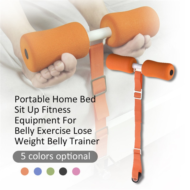 Adjustable Sit Up Bars Abdominal Core Workout Strength Training Equipment Home Bed Sit Up Trainer D90704
