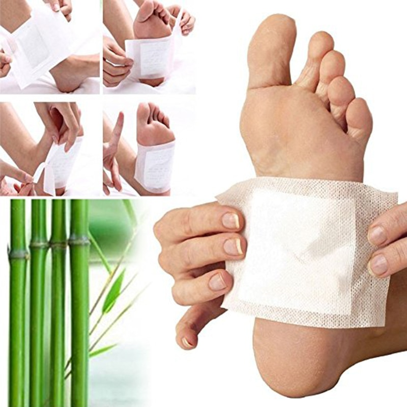 10PCS Foot Patches  Pads Toxins Feet Slimming Cleansing Herbal Body Health Adhesive Pads Body Detox Foot Patch Feet Care TSLM2