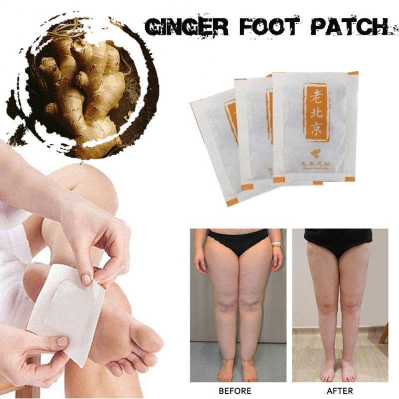 10pc Ginger Foot Sticker Detox Foot Patch Pad Body Relax Swelling Ginger Chinese Herbal Adhesive Detoxification Phlegm Pad TSLM2