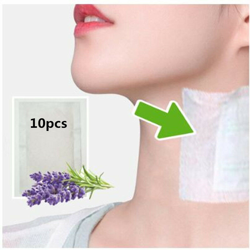 10 patches Neck Lymphatic Detox Patch Anti-Swelling Herbal Pads To Improve Sleep Foot Patches Skin Care