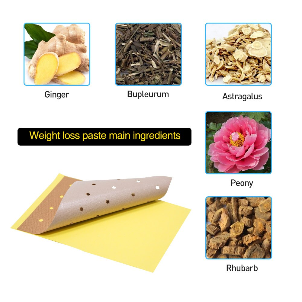10pcs Slim Patch Burning Fat Keep Fit Sticker Weight Lose Product Herbal Medical Plaster Detox Beauty Body Health Care K03901