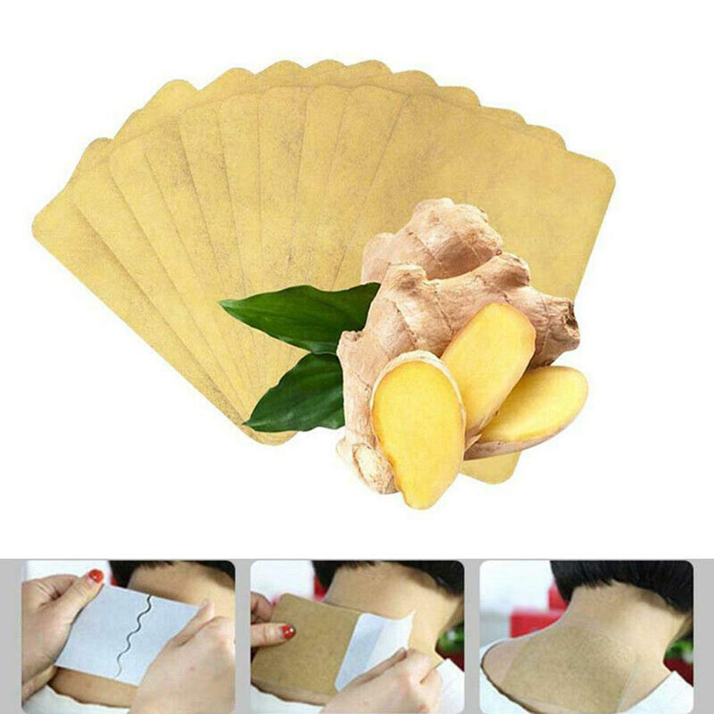 10/20/30pcs Herbal Ginger Patch Body Detox Neck Knee Pad Pain Relief Health Care