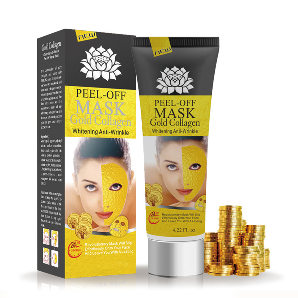 24K Gold Collagen Peel Off Mask Face Tear Off Whitening Lifting Firming Skin Anti Wrinkle Aging Facial Mask Black Head TSLM1