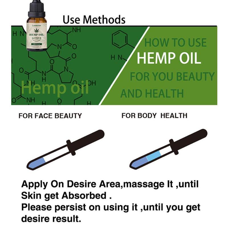 3000mg Organic Hemp Oil Essential Oils Hemp Seed Oil Herbal Drops For Pain Relief Reduce Anxiety Help Sleep Massage Oils