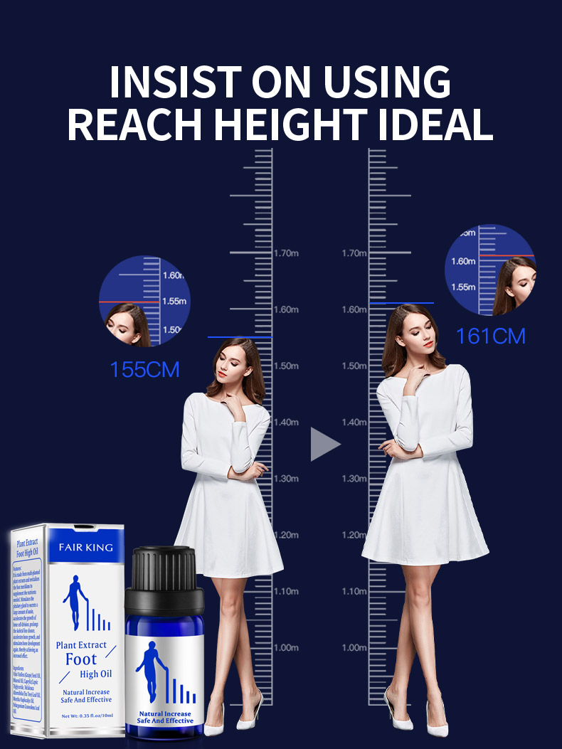 Herbal height growing oil medicine body grow taller essential oil feet health care products Promot bone growth TSLM1