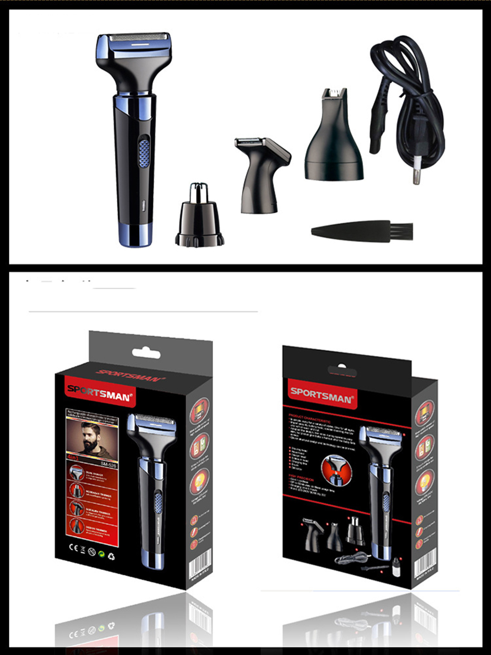 Mini Professional Electric Rechargeable Nose and Ear Hair Trimmer Shaver Temple Cut Personal Care Tools For Men