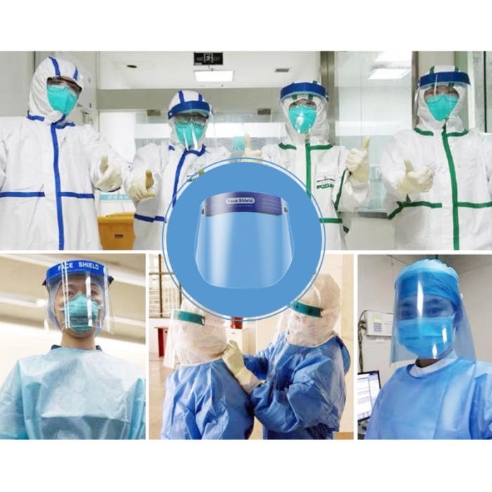 2/4/10 Pcs Protective Full Face Shield Safety Isolation Visor Eye Face Protector Facial Cover 29x25.5x2.5cm Personal Health Care