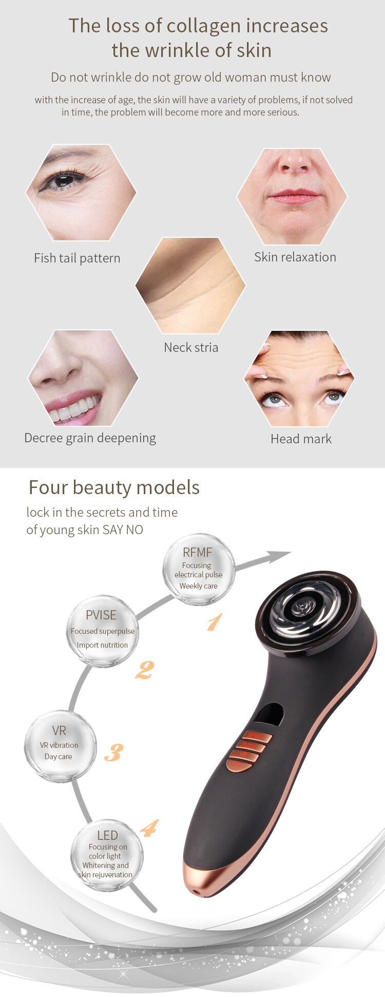 EMS Personal Care Device RF Beauty Equipment Multi Function Beauty Equipment Anti Wrinkle Facecial Skin Tightening Machine