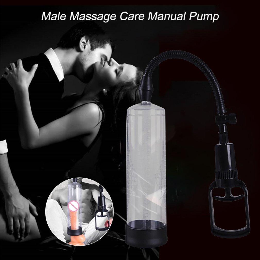Male Massage Care Large Size 6.5CM Manual Pump Diameter For Men Cock Erection Device Vacuum Magnifier Men Use 2019