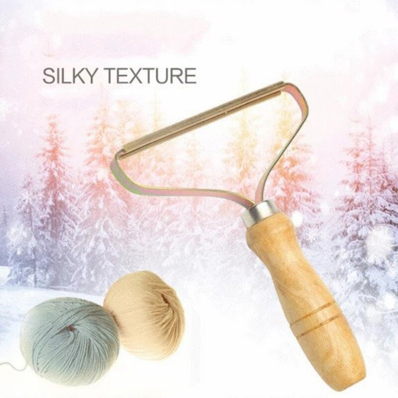 New Wooden Handle Manual Portable Clothing Care Lint Remover Sweater Clothes Lint Remover, Trimmer Shaver Lint remover